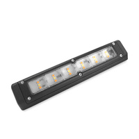 LED External Awning Light 200mm Cool White/Amber Black Shell
