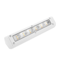 LED External Awning Light 200mm Cool White/Amber White Shell
