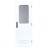 Odyssey 4 Square Corner Door 1908mm x 622mm White Frame Right Hand Hinge Smooth White Infil & White Vent