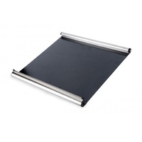 Smev 400 Series Stove Glass Lid with curved brushed metal front