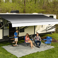Carefree Altitude Black Reverse Fade 21 foot Awning with LED Bar
