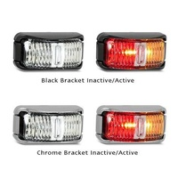 LED RED/AMBER SIDE MARKER BLACK