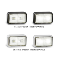 LED CLEAR FRONT MARKER CHROME
