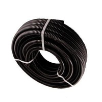 Black Waste Hose 10M Roll 27mm Id Smooth Bore (Suits 25mm)