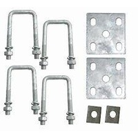 "1/2"" U Bolt & Fish Plate Kit - Suit 45 50 & 60 mm"